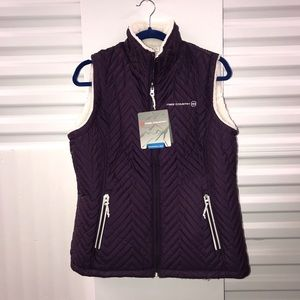 Free Country Reversible Quilted Sherpa Vest